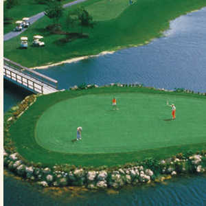 Aerial view of the 14th hole