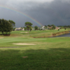 A view of the rainbow over Highlands Ridge Golf Club.