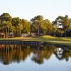 A view over the water of a green at Countryside Country Club.