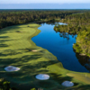 Aerial view or the 8th hole from the Hills Course at LPGA International
