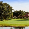 A view of the clubhouse at Cypress Greens Golf & Tennis Community