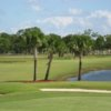 A view of green #1 at John Prince Golf Center