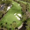 Aerial view of the 18th green at Bear from Forest Country Club
