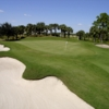 A view of the 17th green at Crown Colony Golf & Country Club