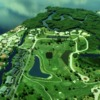 Aerial view of Riverbend Golf Course