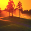A sunset view of the 10th hole at Fazio Course at Old Trail from Jonathan's Landing