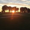 Sunset view of the course at Grand Lake RV and Golf Resort