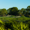 View of a bunkered green at St. Lucie Trail Golf Club