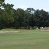 A view of a well protected green at The Country Club At Deer Run