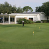 A view of the practice putting green at Plantation on Crystal River