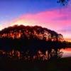 Sunrise over Indigo Lakes Golf Club
