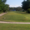 A view of a tee at Lily Lake Golf Resort.