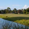 A view of a fairway at St. Augustine Shores Golf Club.