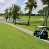 A sunny day view from a tee at Fountains Country Club.