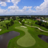 Aerial view of the 1st and 8th hole from  Deep Creek Golf Club.