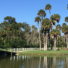 A sunny day view from Daytona Beach Golf Club.