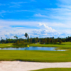 A sunny day view of a hole from Cypress Links at Mangrove Bay.