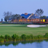 A view of the clubhouse and hole at Ritz-Carlton Members Golf Club.