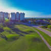 Aerial view of the 10th hole at Terra Ceia Bay Golf & Tennis Club.