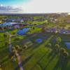 Aerial view of the 18th hole at Terra Ceia Bay Golf & Tennis Club.