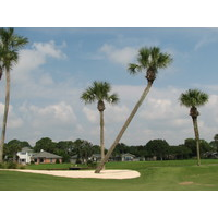 The Lagoon course at the Ponte Vedra Inn and Club has a south Florida look, with palms throughout.