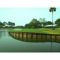 The par-5 16th on the Players Stadium Course at TPC Sawgrass is where many PGA Tour pros have made their moves.