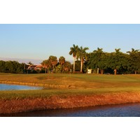 The 16th hole on the Jim McLean Signature Course at Doral Golf Resort & Spa is a long par 4.