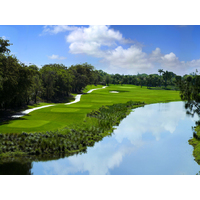 The 17th hole is another watery challenge on the Jim McLean Signature Course at Doral Golf Resort & Spa.