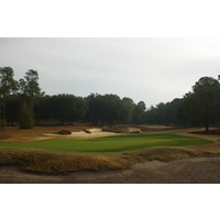 The par-3 seventh hole on World Woods Golf Club's Pine Barrens Course plays slightly downhill.