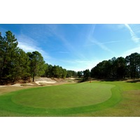 The par-3 16th hole on World Woods Golf Club's Pine Barrens Course plays more than 200 yards.
