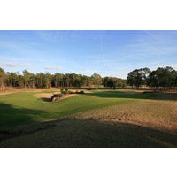 World Woods Golf Club features an expansive practice area, which includes a large putting and chipping green with many tiers.