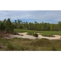 The natural bunkering is one of the best features at Old Corkscrew Golf Club.