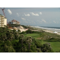 The par-3 sixth on the Ocean Links Course at Amelia Island Plantation sits right behind the hotel.