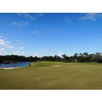 The sixth hole at Floridian Yacht & Golf Club is a drivable par 4 at 301 yards.