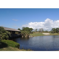 The shortest hole at Floridian Yacht & Golf Club is the 153-yard eighth.