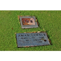 The 'Aman' plaque sits on the 15th hole at Windermere Country Club.