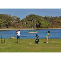 Even the range is scenic at the River Strand Golf and Country Club in Bradenton, Florida.