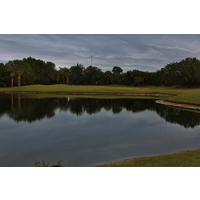 Water dominates the left side of the sixth fairway at the Preserve Golf Club at Tara, Bradenton, Fla.