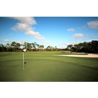 Raptor Bay Golf Club has large waste areas instead of traditional bunkers.