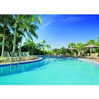 The Hyatt Regency Coconut Point Resort and Spa is set on 26 acres and includes a large, outdoor pool.