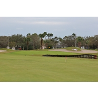 The 403-yard 18th hole at Viera East Golf Club is a memorable finish.