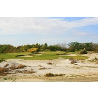 You'll think you are at the beach with all the sand on eight at Streamsong Resort's Red golf course.