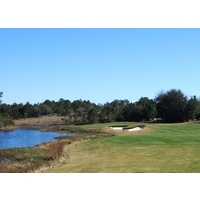 The eighth hole is yet another difficult par 5 at Camp Creek Golf Club in Panama City Beach.