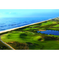 The 18th hole on the Ocean golf course at Hammock Beach Resort is one of the strongest finishing holes in Florida.