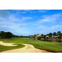 The 11th is another challenging par 5 at Raven Golf Club at Sandestin Golf and Beach Resort in Destin.
