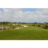 The dogleg-left, 434-yard, par-4 eighth is the second hardest hole on the Falcon nine at Osprey Point in Boca Raton.