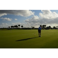 Osprey Point G.C. has excellent practice facilities, including this large putting green.