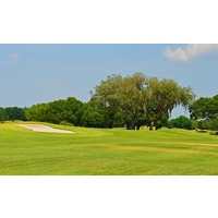 Trees and bunkers, like these on the par-4 10th, also enhance the look at Tatum Ridge Golf Links in Sarasota, Fla.